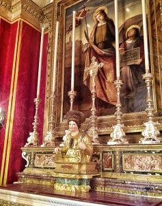 The effigy of St. Ursula donated to the Gozo Cathedral by Governor Maldonado.