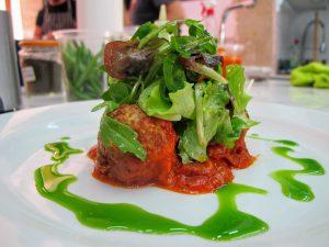 Chorizo Meatball Salad