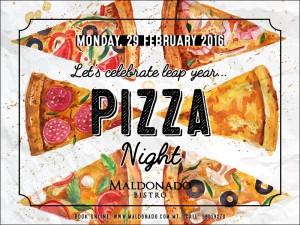 Pizza Night on 2 Feb
