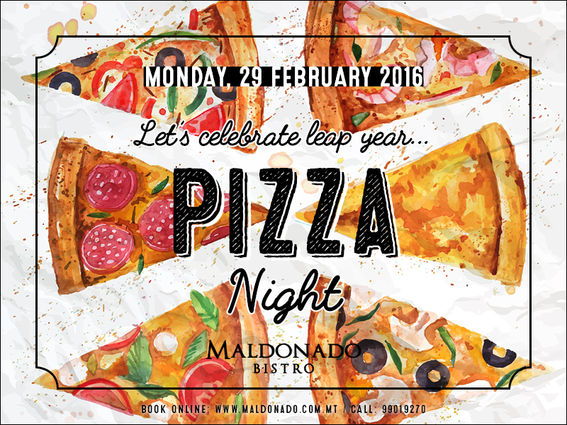 Pizza Night on 2 Feb