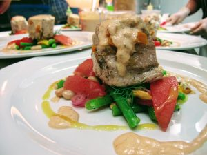 Albacore Tuna with bean salad