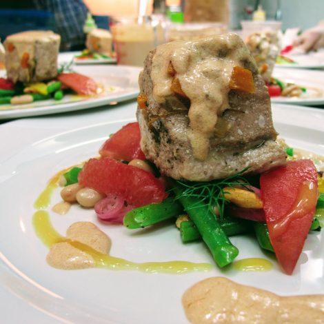 Albacore Tuna with bean salad