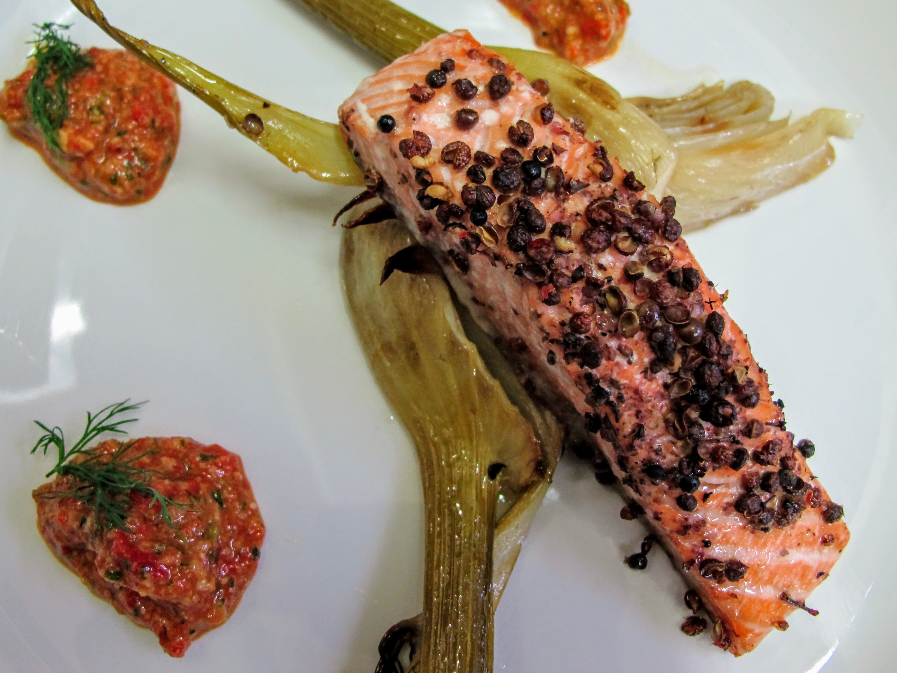 Szechuan Pepper Grilled Salmon
