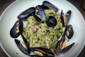 Tagliatelle with Smoked Fish & Mussels