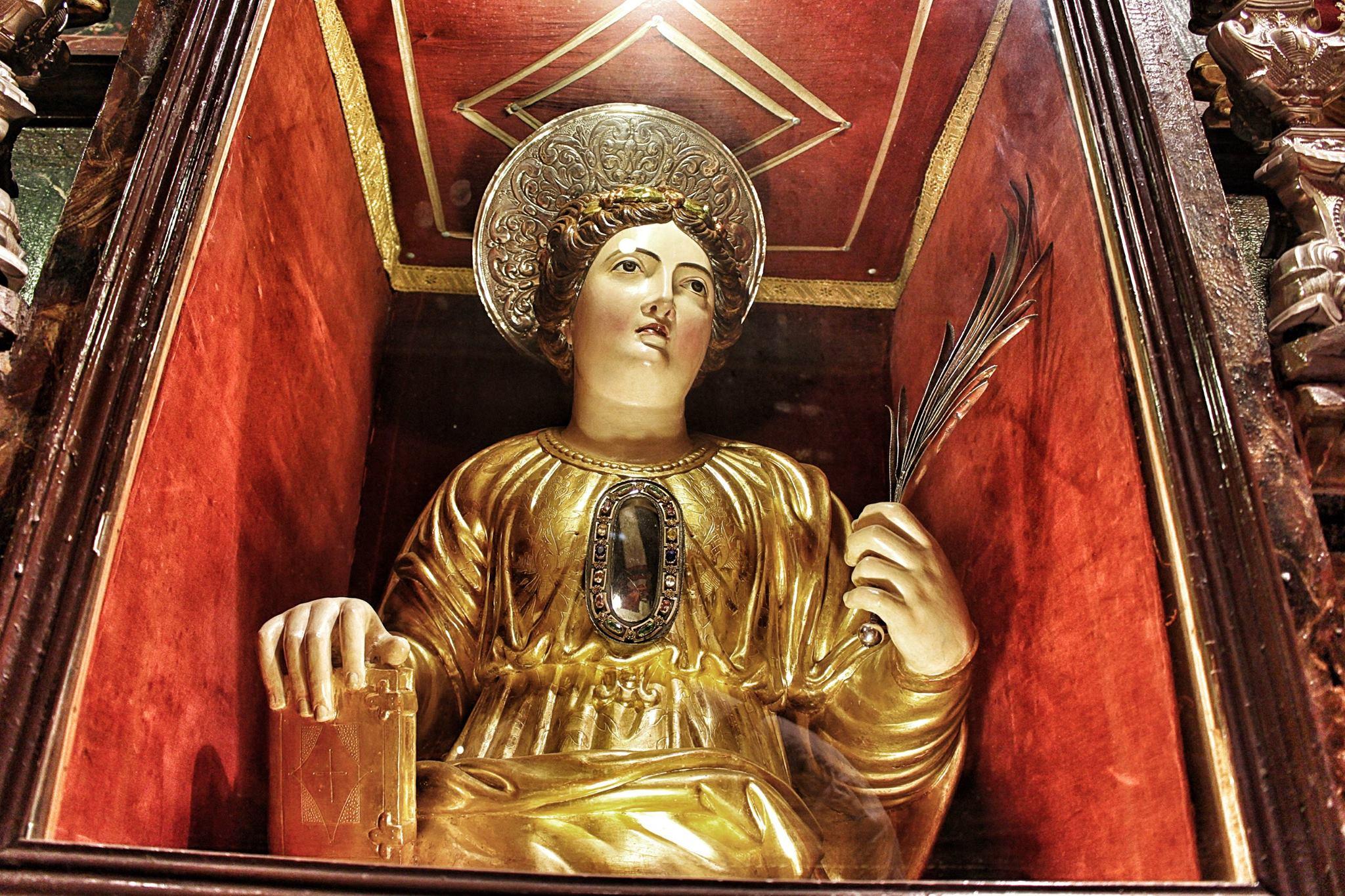The effigy of Saint Ursula