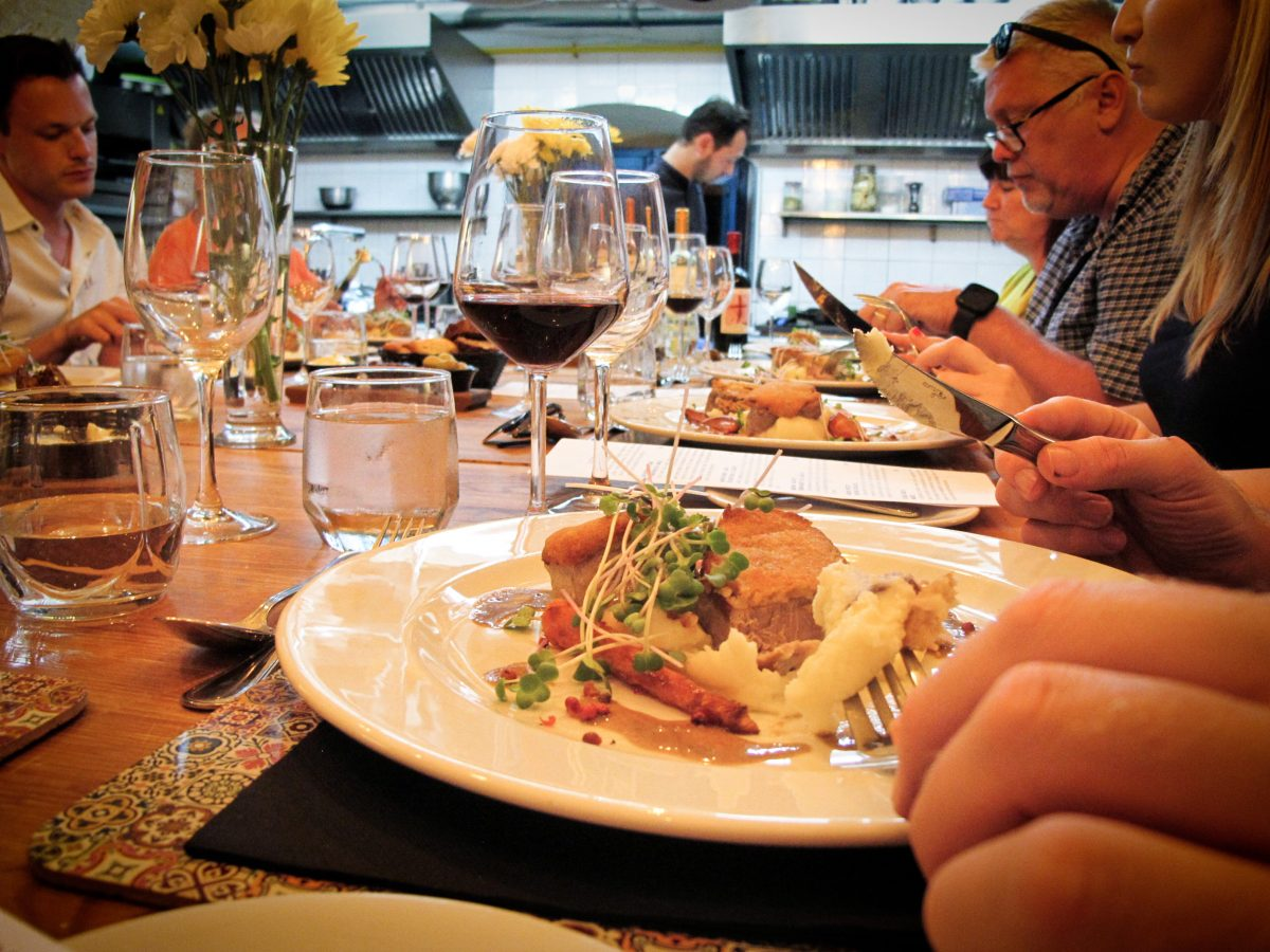 Wine tasting and open kitchen dinner
