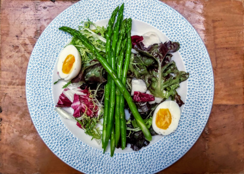 Chicory Salad with Gozo Asparagus