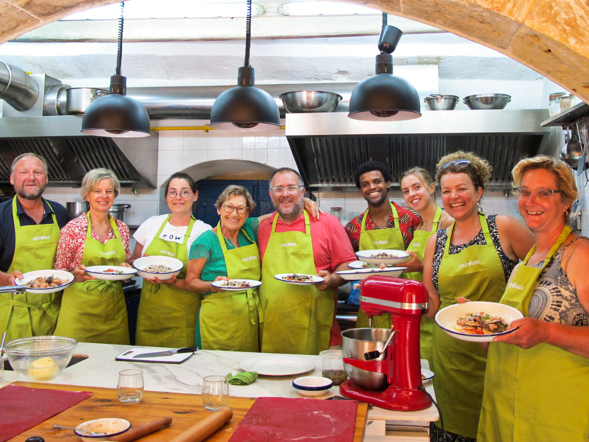 Gozo Cooking Class Group Photo